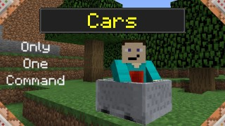 Minecraft: Cars Only One Command