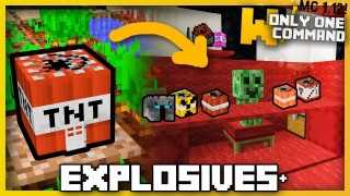 Minecraft: Explosive stuff & Unlucky Blocks Only Two Commands