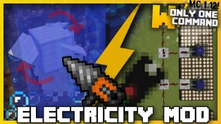 Minecraft: Electricity Only One Command (2 Commands)