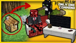 Minecraft: Live Inside a Tiny Crafting Table Only One Command