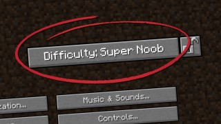 Minecraft: Super Noob Difficulty Only One Command