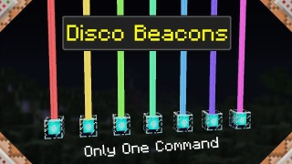 Minecraft: Disco Beacons Only One Command
