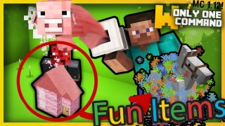 Minecraft: Fun Items Pack Only Two Commands