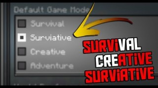 "Minecraft: Gamemode ""Surviative"" Only One Command"