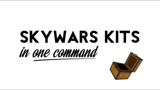 Minecraft: Skywars Kits Only One Command