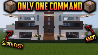 Minecraft: Huge Private Mansion Only One Command