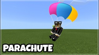 Minecraft: Working Parachute Only One Command
