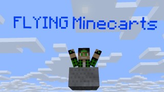 Minecraft: Flying Minecarts Only One Command