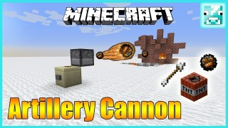 Minecraft: Rapid Fire Artillery Cannon Only One Command