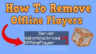 Minecraft: Remove Offline Players In Scoreboard Objectives Only One Command