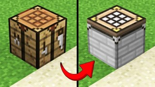 Minecraft: Secret Crafting Table Only One Command