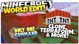 Minecraft: World Edit, Clone, Anti TNT & More Only One Command