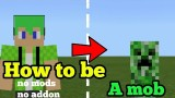 Minecraft: How To Be a Mob Only One Command