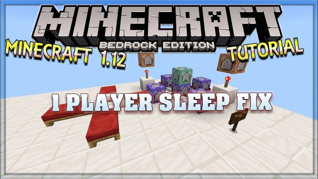Minecraft: One Player Sleeping Only One Command