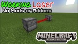 Minecraft: Working Laser Only One Command
