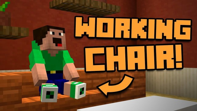 Minecraft: Working Chairs Only One Command